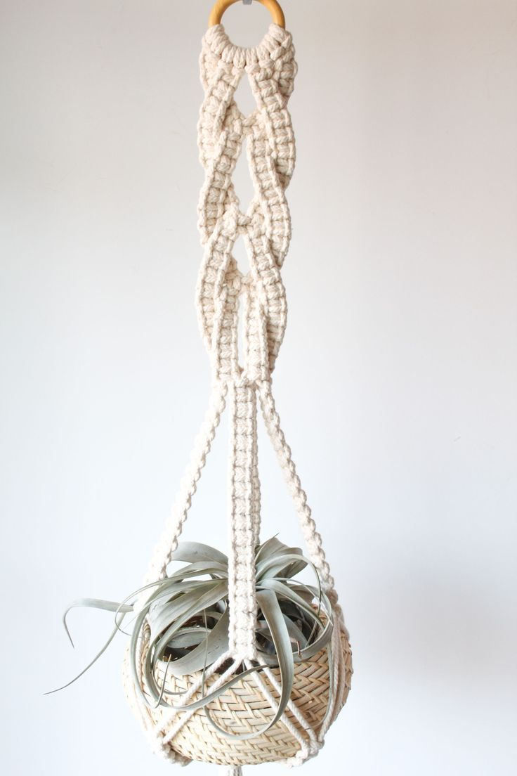 macrame pot hanger tutorial