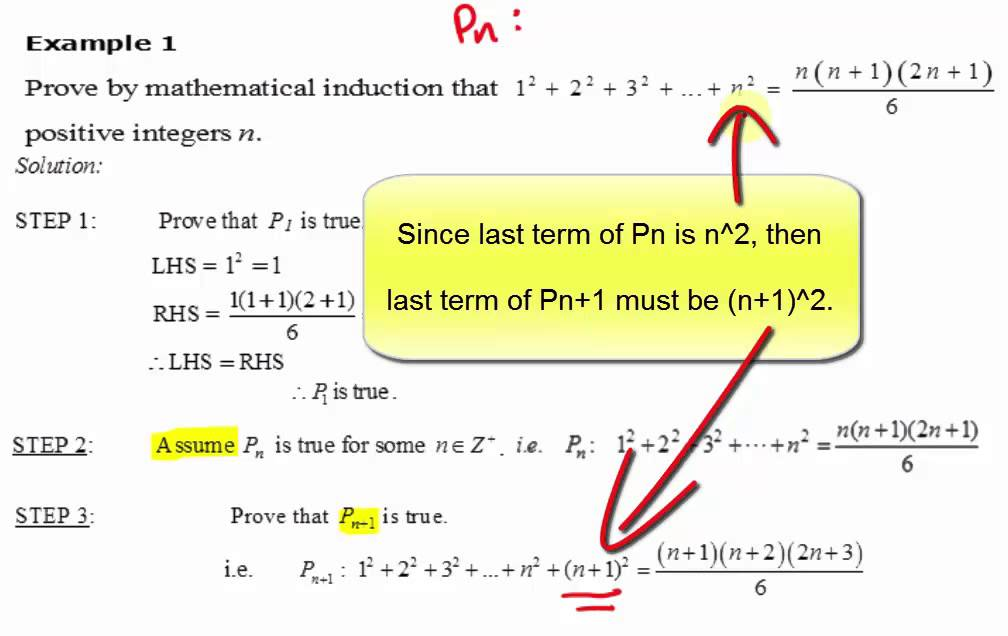 mathematical induction tutorial pdf