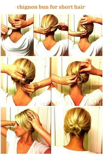 messy bun for medium hair tutorial