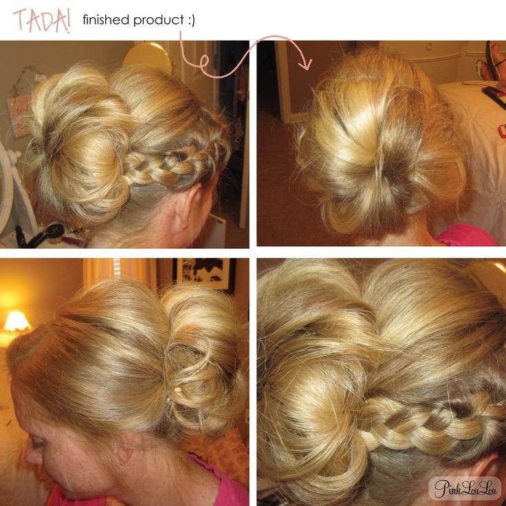 messy bun with bangs tutorial