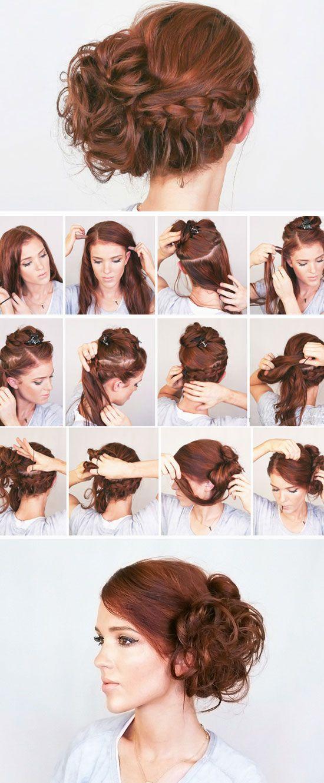 messy updo tutorial long hair