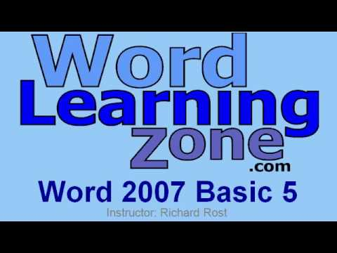 microsoft office word 2007 tutorial video