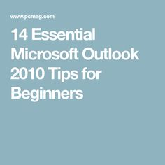 microsoft outlook 2010 tutorial for beginners