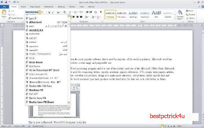 microsoft word 2010 advanced tutorial