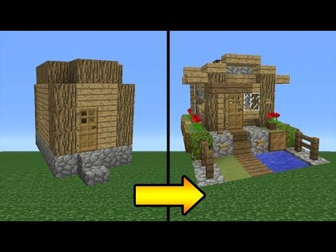 minecraft dog house tutorial