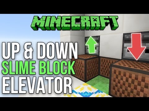 minecraft elevator tutorial up and down