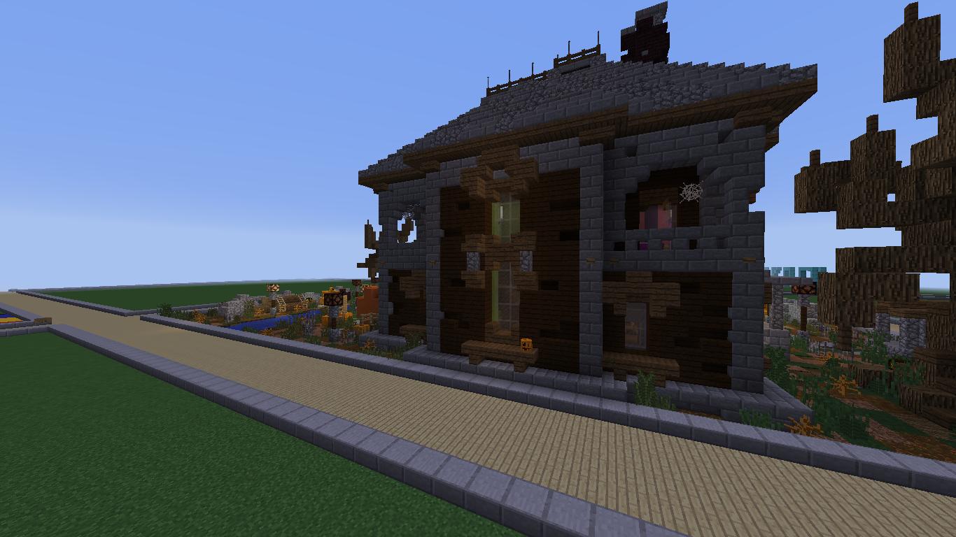 minecraft haunted house tutorial