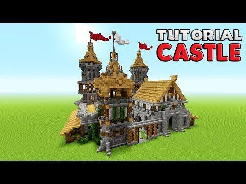 minecraft simple castle tutorial