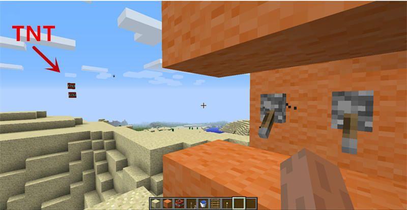 minecraft tnt cannon tutorial