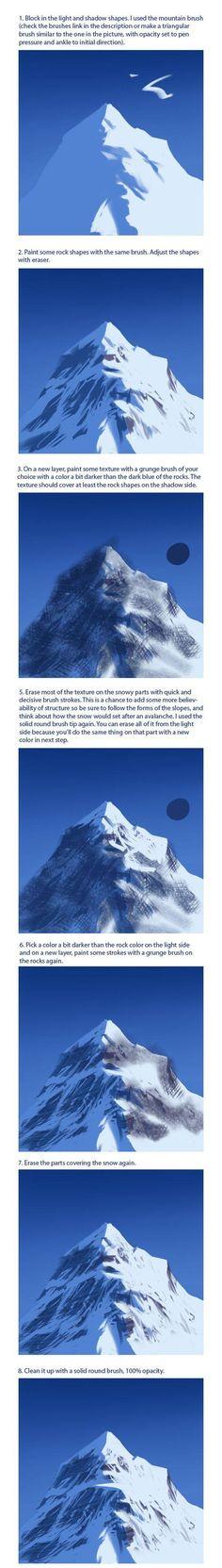 mountain digital painting tutorial