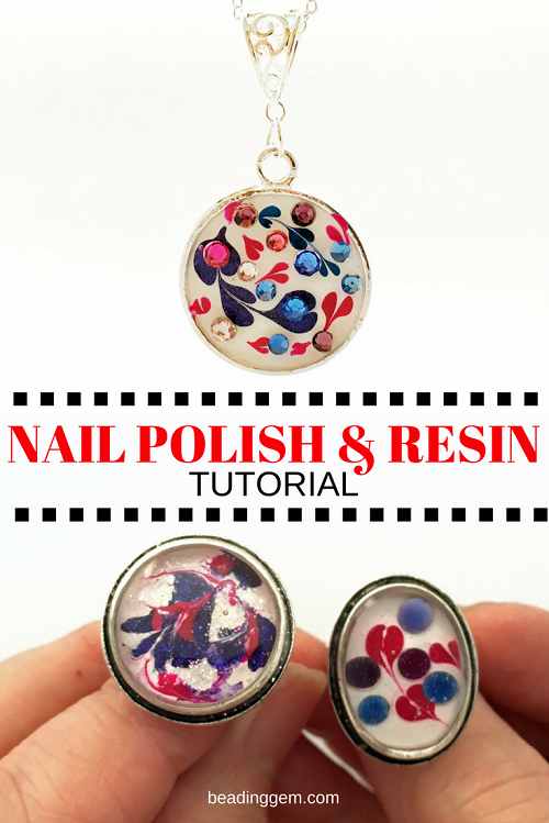 nail polish flowers wire tutorial
