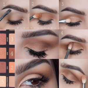 natural eyeshadow tutorial for brown eyes