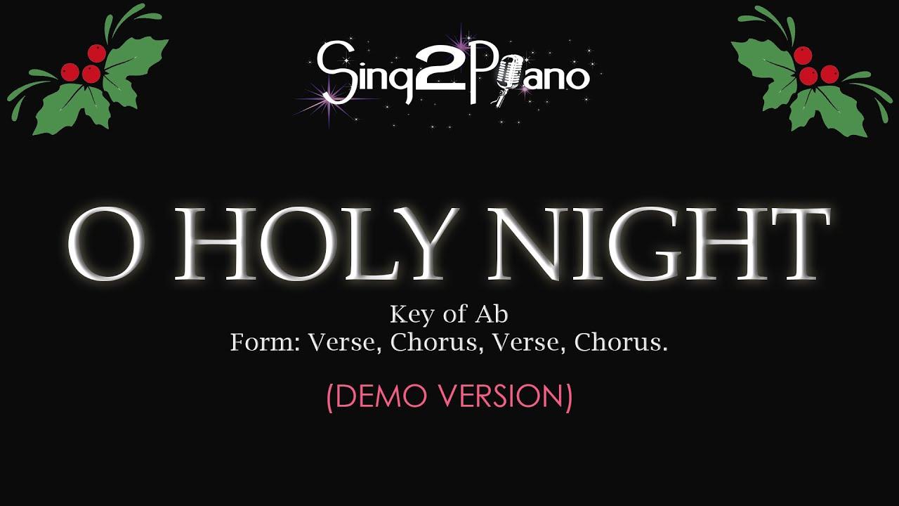 o holy night piano tutorial