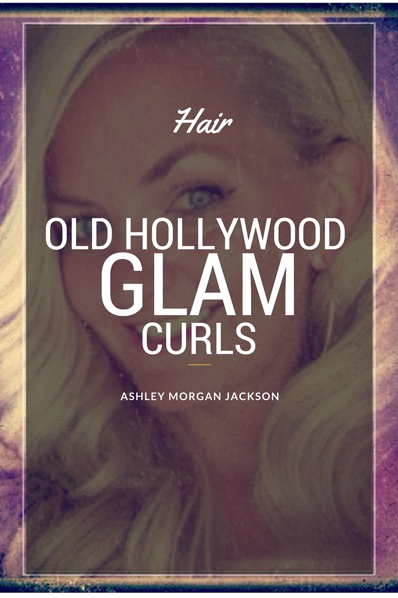 old hollywood curls tutorial