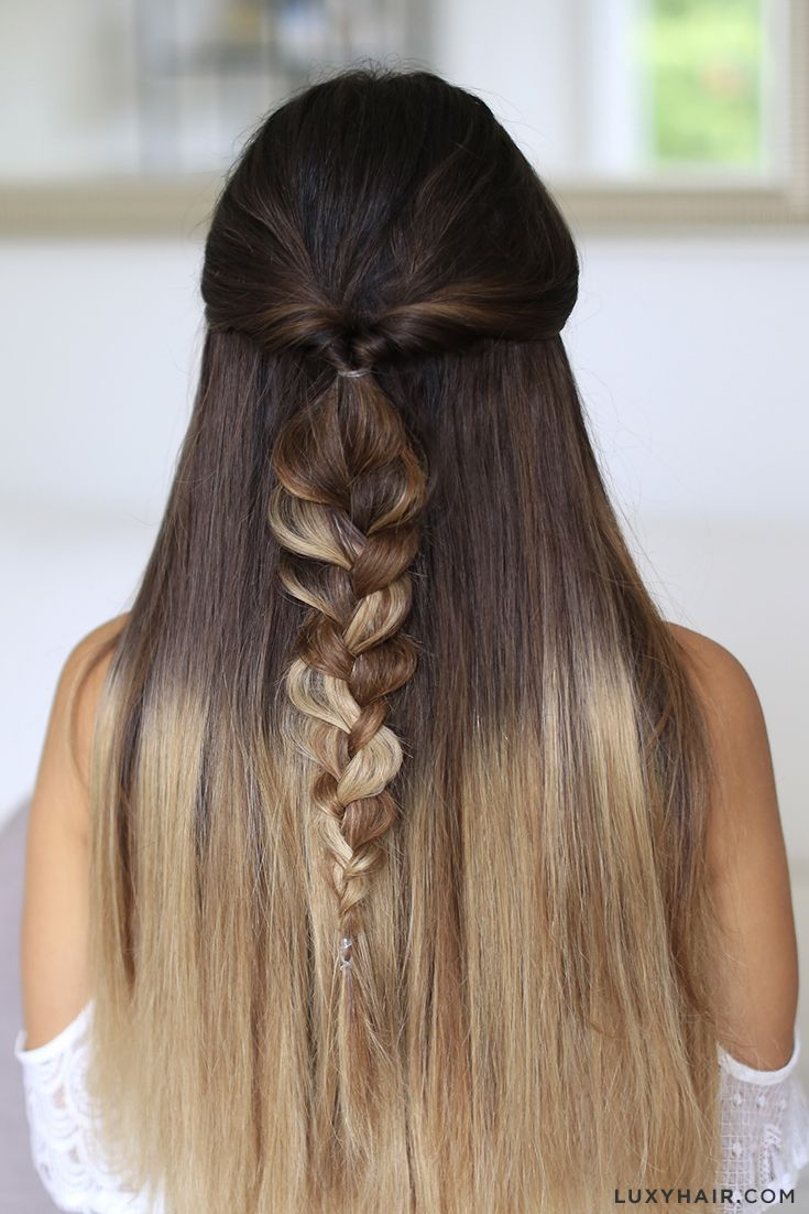 ombre hair tutorial for brown hair
