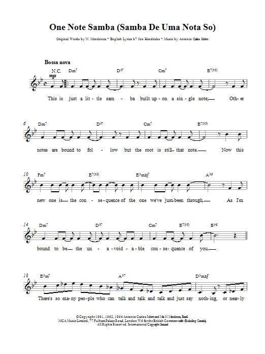 one note samba guitar tutorial