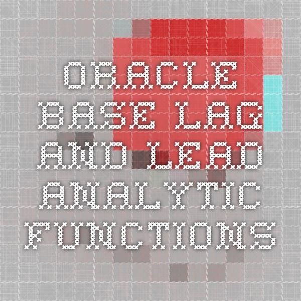 oracle analytic functions tutorial