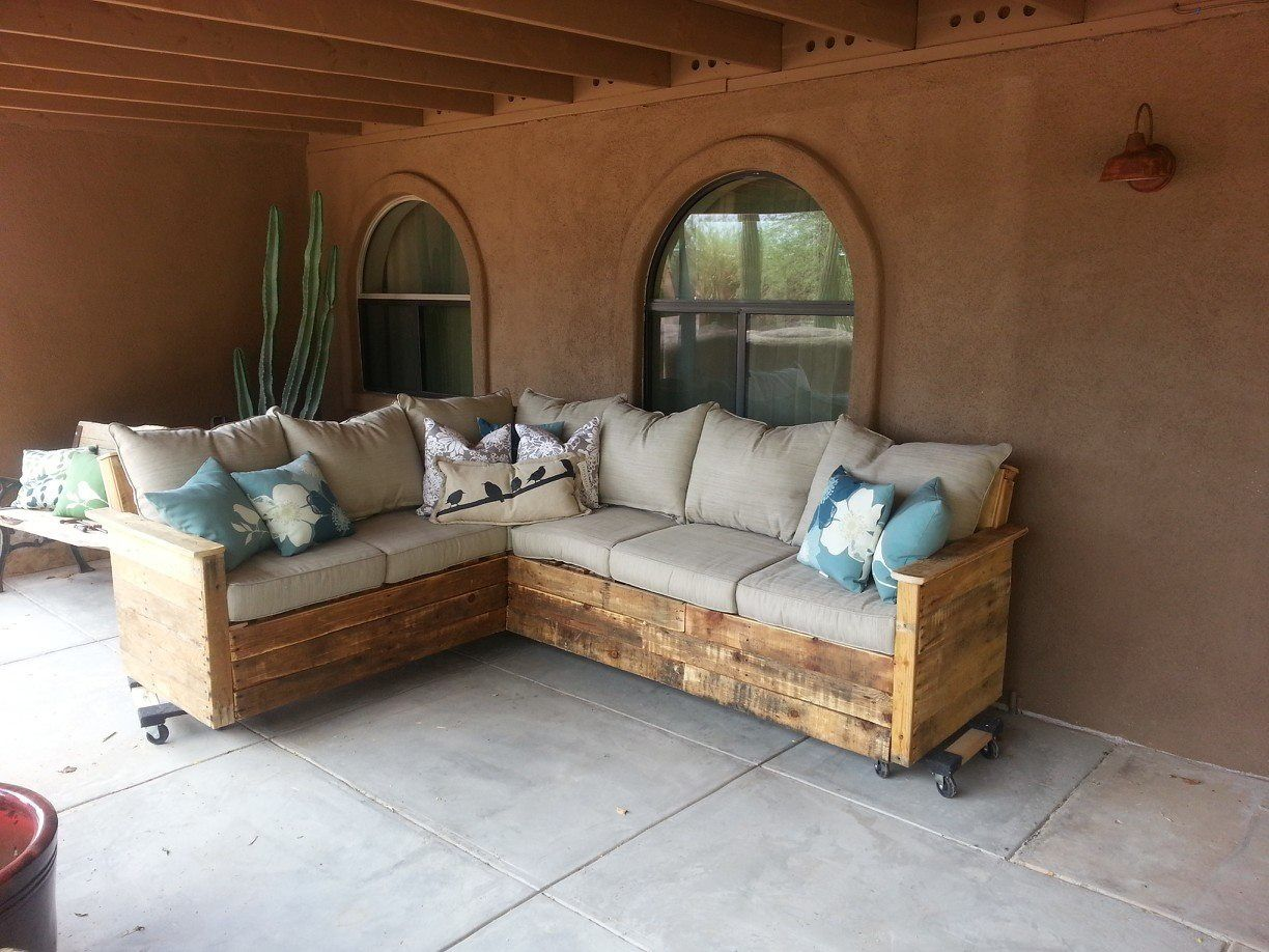 outdoor pallet sectional tutorial