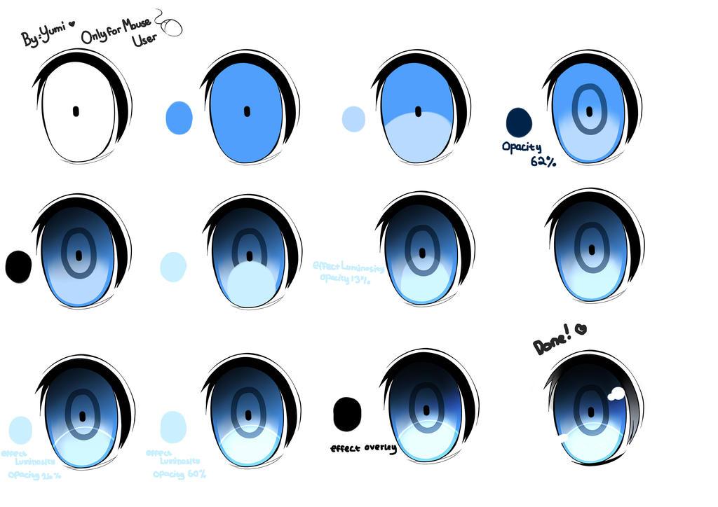 paint tool sai eye tutorial