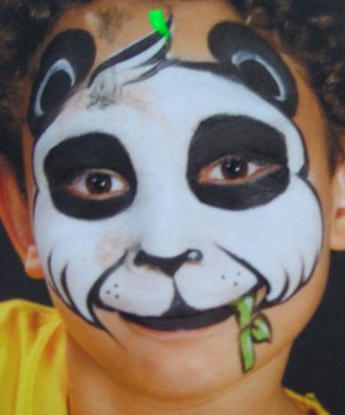 panda face paint tutorial