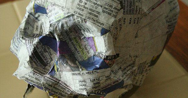 paper mache skull tutorial