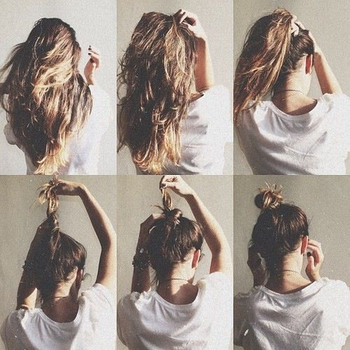 perfect messy bun tutorial
