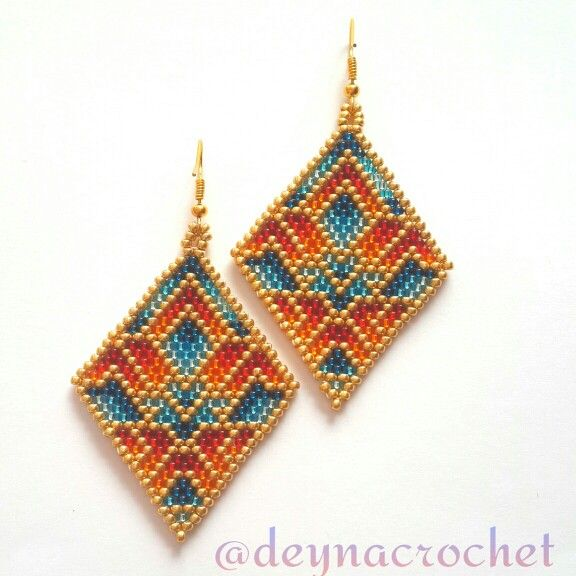 peyote stitch earrings tutorial