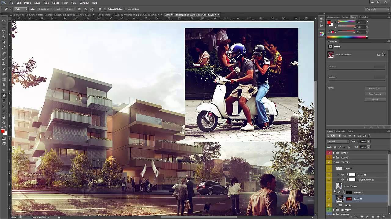 photoshop architectural rendering tutorial