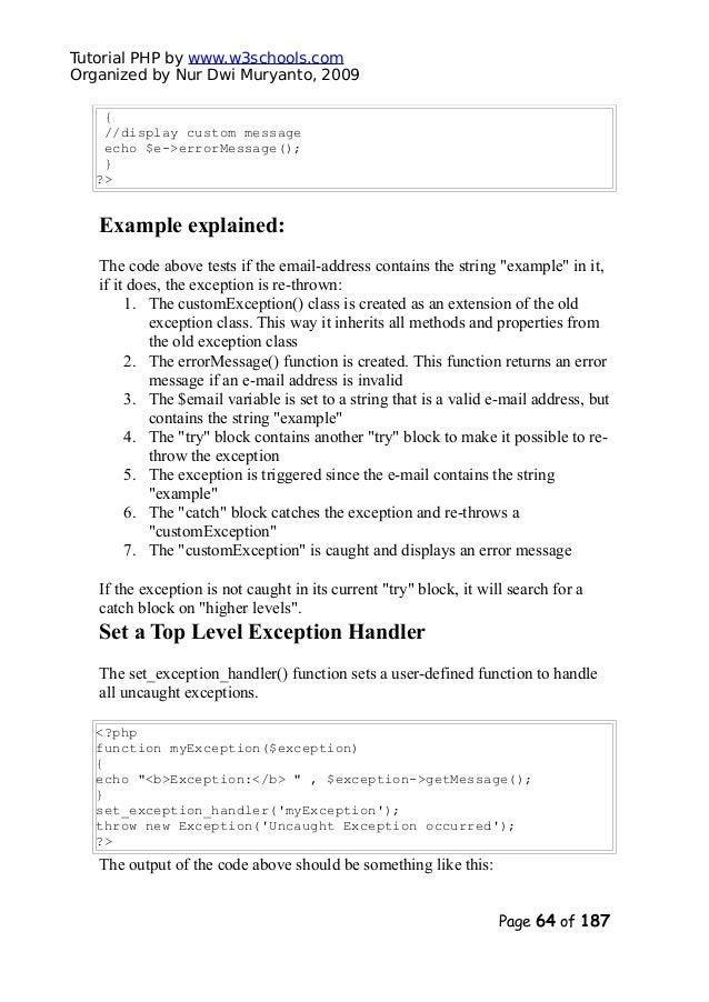 php 7 tutorial w3schools