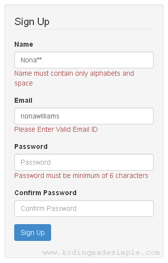 php form validation tutorial