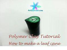 polymer clay snowflake cane tutorial