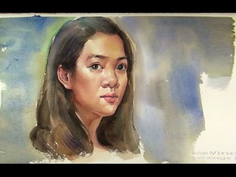 portrait painting tutorial youtube