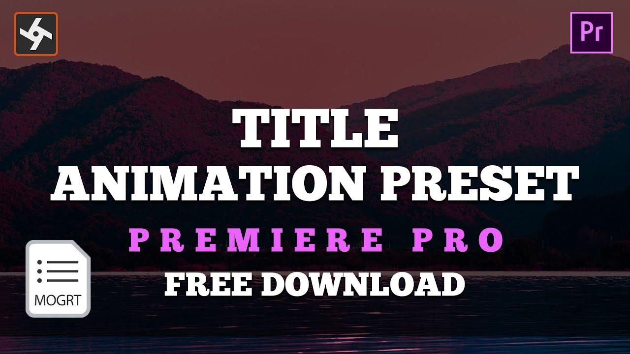 premiere pro title tutorial