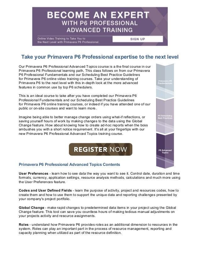 primavera p6 online tutorial