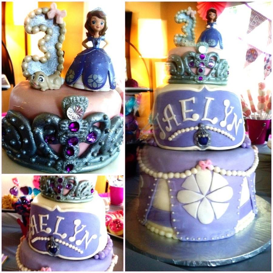princess sofia cake topper tutorial