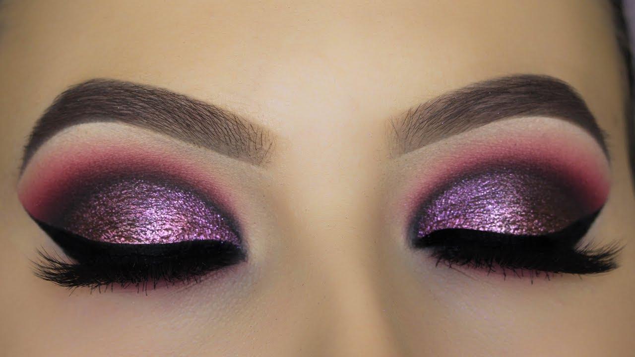 purple smokey eye tutorial pictures