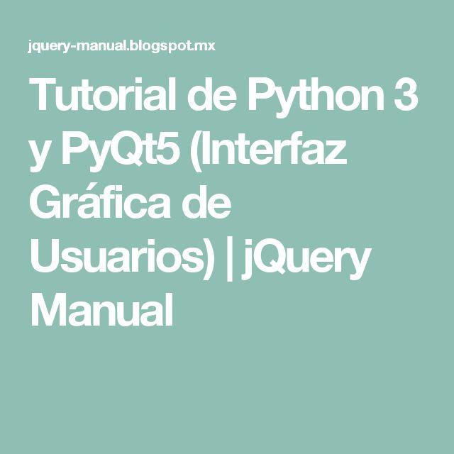 pyqt5 tutorial python 3
