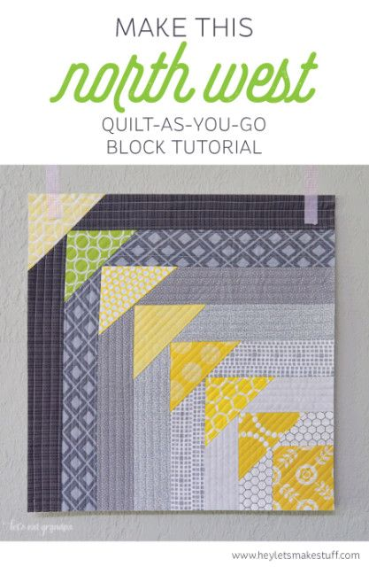 quilt as you go technique tutorial
