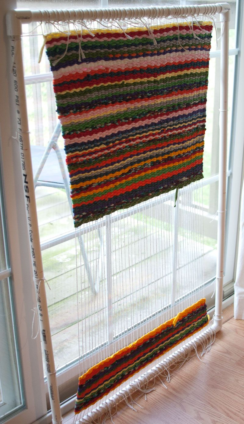 rag rug loom tutorial