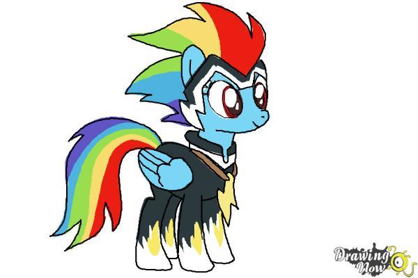 rainbow dash drawing tutorial
