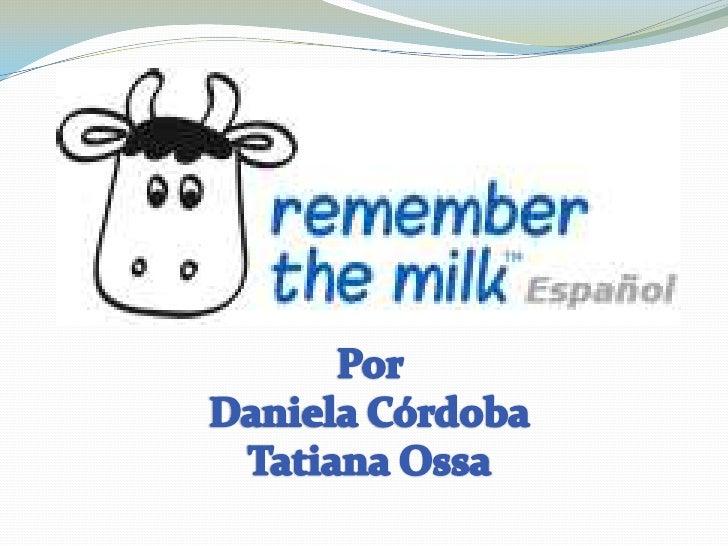 remember the milk tutorial