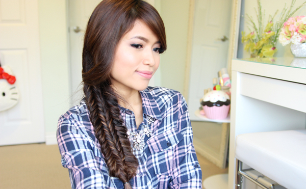 reverse fishtail braid tutorial
