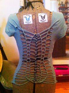 rib cage spine t shirt reconstruction tutorial