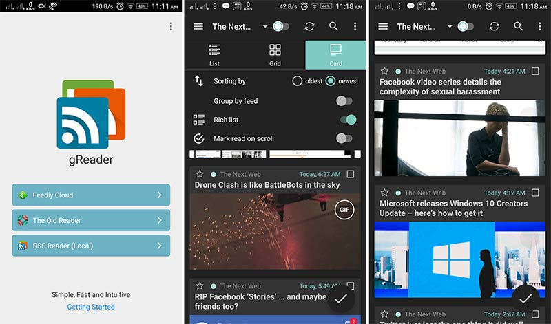 rss feed reader android tutorial