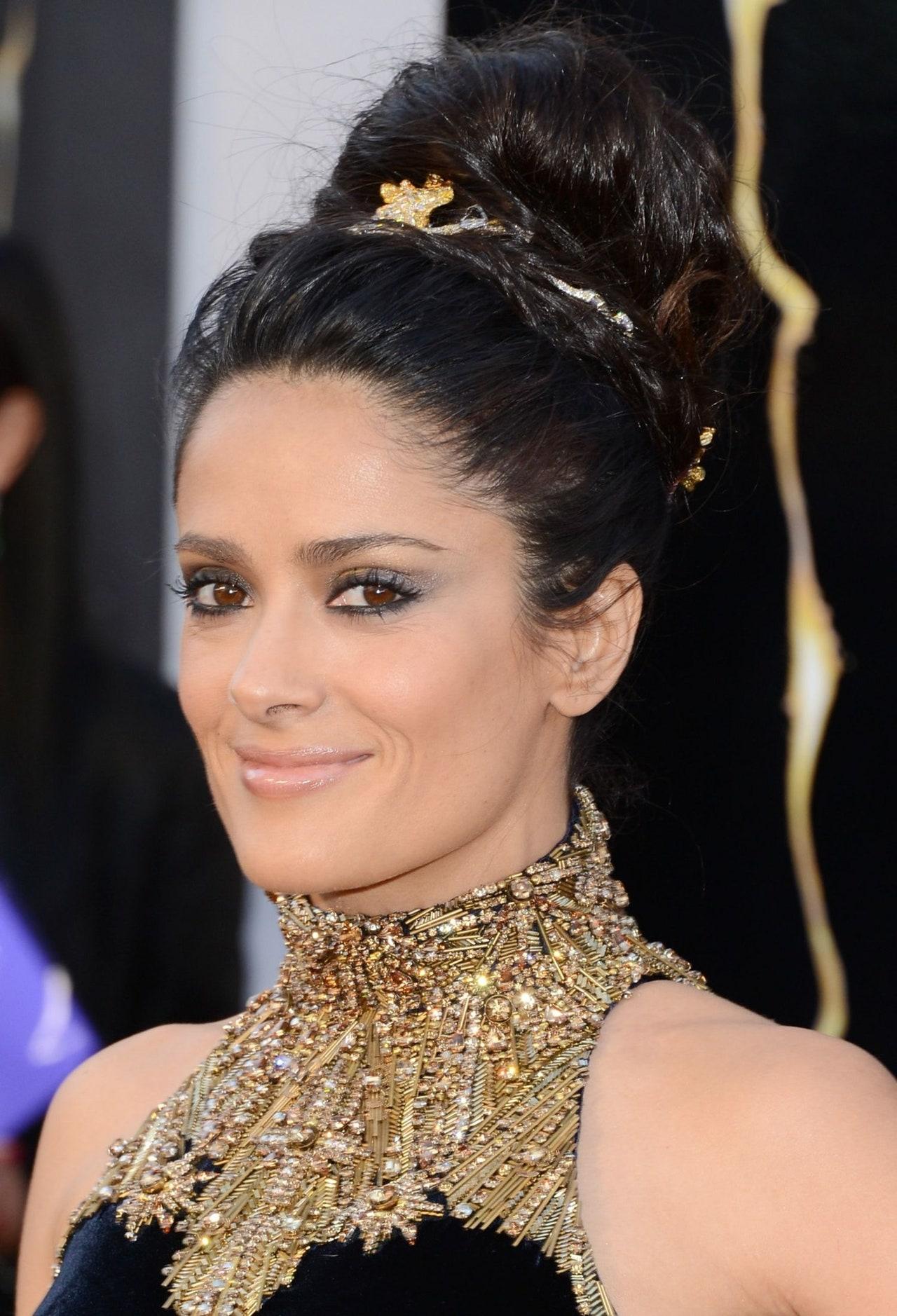 salma hayek makeup tutorial