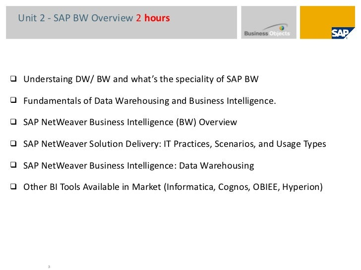sap bi bw tutorial