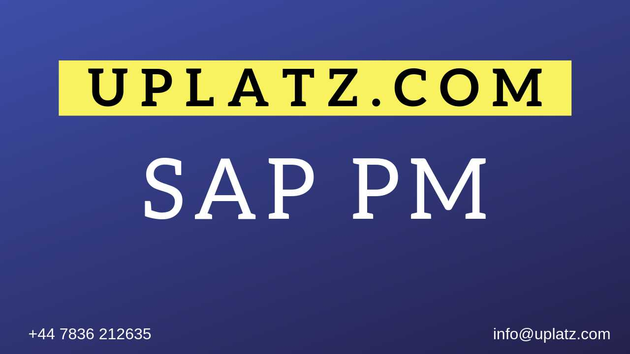 sap pm video tutorial
