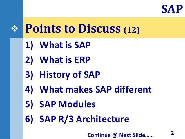 sap tutorial for beginners ppt