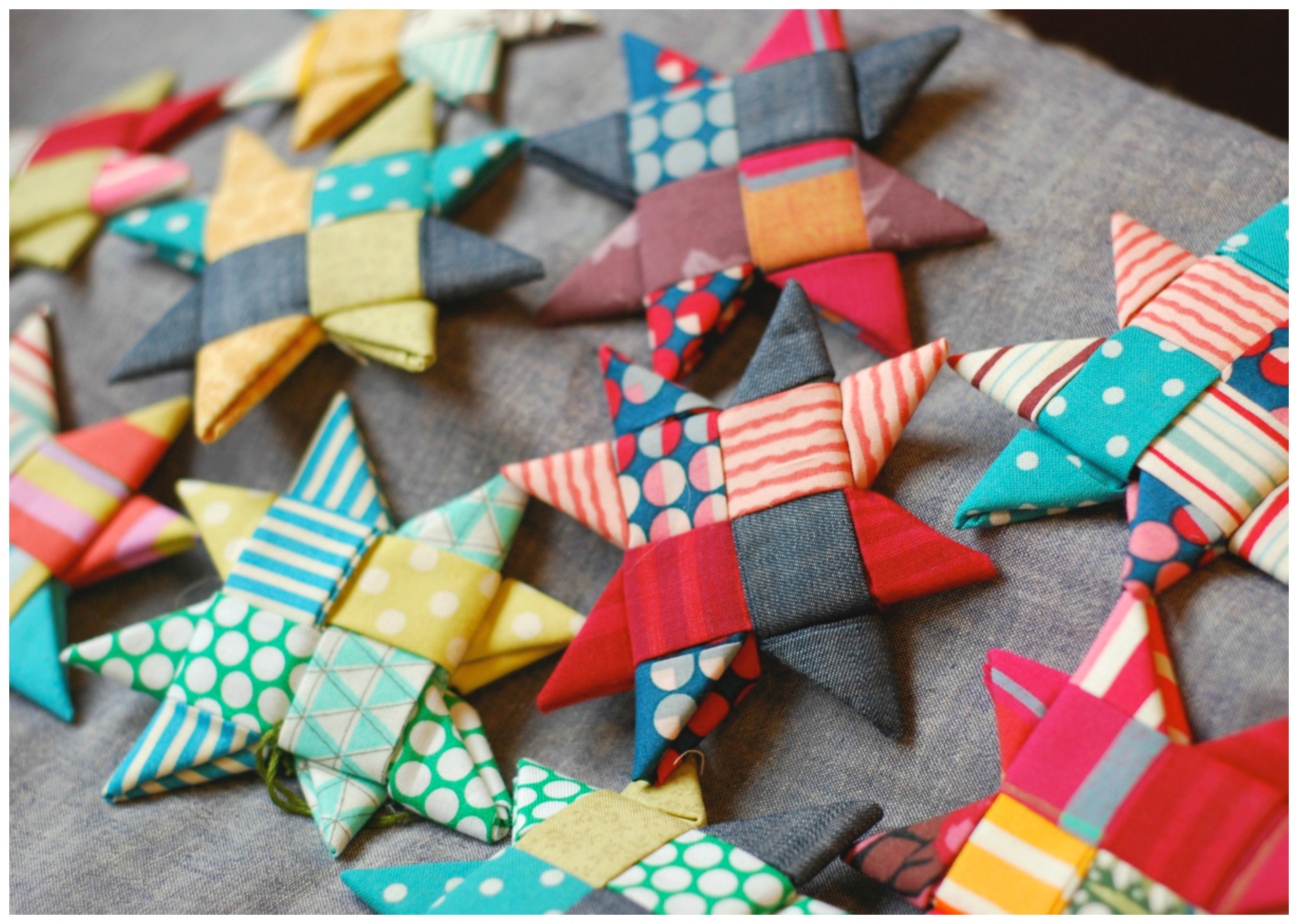 scandinavian fabric stars tutorial