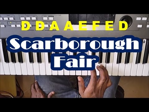 scarborough fair piano tutorial